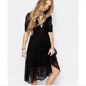 Free People Black Lace Mountain Luarel Dress-4